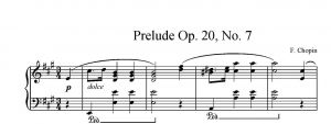 Chopin - Preludium opus 28 no. 7