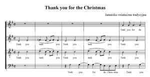 Thank you for the Christmas - Jamajska pieśń świąteczna - SATB - partytura