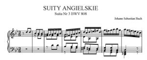 Suity angielskie - Suita nr 3 g-moll BWV 808
