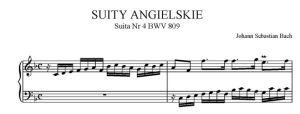 Suity angielskie - Suita nr 4 F-dur BWV 809