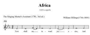 4.  Billings - Africa SATB - alt
