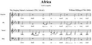 2. Billings - Africa SATB - partytura