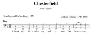 6. Billings - Chesterfield SATB - bas