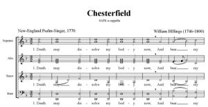 2. Billings - Chesterfield SATB - partytura