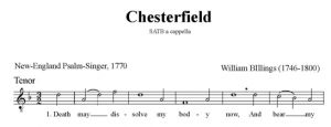 5. Billings - Chesterfield SATB - tenor
