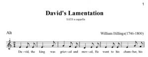4. Billings - David\'s Lamentation SATB - alt