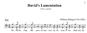 6. Billings - David\'s Lamentation SATB - bas