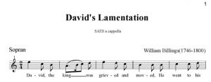 3. Billings - David's Lamentation SATB - sopran