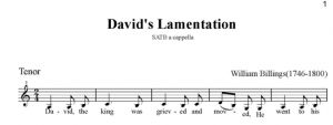5. Billings - David's Lamentation SATB - tenor