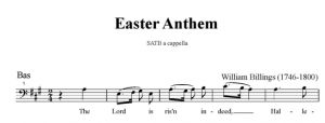 6. Billings - Easter Anthem SATB - bas