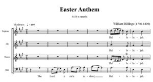 2. Billings - Easter Anthem SATB - partytura