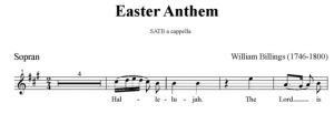 3. Billings - Easter Anthem SATB - sopran