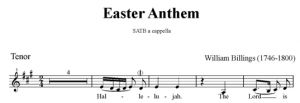 5. Billings - Easter Anthem SATB - tenor