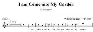 3. Billings - I am come into My Garden SATB - sopran
