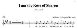 4. Billings - I am the Rose of Sharon SATB - alt