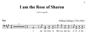 6. Billings - I am the Rose of Sharon SATB - bas