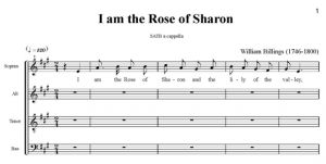 2. Billings - I am the Rose of Sharon SATB - partytura