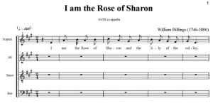 1. Billings - I am the Rose of Sharon SATB - partytura i głosy całość