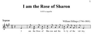 3. Billings - I am the Rose of Sharon SATB - sopran