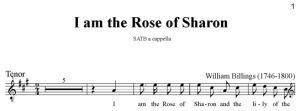 5. Billings - I am the Rose of Sharon SATB - tenor