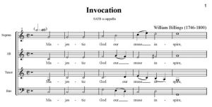2. Billings - Invocation SATB - partytura