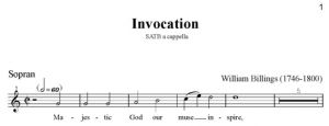 3. Billings - Invocation SATB - sopran