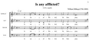 2. Billings - Is any afflicted SATB - partytura