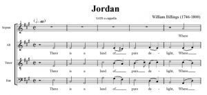 2. Billings - Jordan SATB - partytura