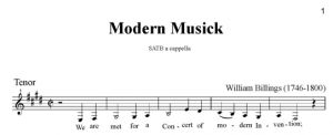 5. Billings - Modern Musick SATB - tenor