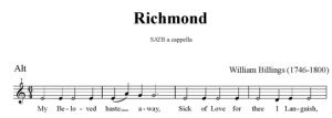 4. Billings - Richmond SATB - alt