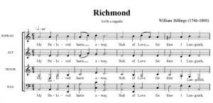 2. Billings - Richmond SATB - partytura
