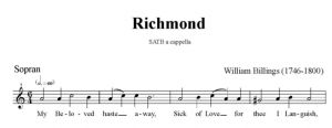 3. Billings - Richmond SATB - sopran