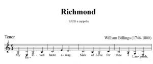 5. Billings - Richmond SATB - tenor