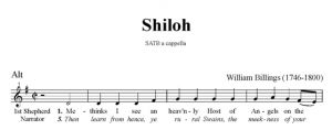 4. Billings - Shiloh SATB - alt