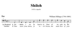 6. Billings - Shiloh SATB - bas
