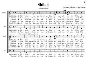 2. Billings - Shiloh SATB - partytura