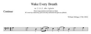 4. Billings - Wake Every Breath - głos solo i BC - BC
