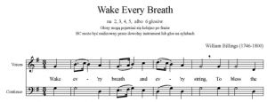 2. Billings - Wake Every Breath - głos solo i BC - partytura