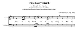1. Billings - Wake Every Breath - głos solo i BC - partytura i głos całość