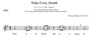 3. Billings - Wake Every Breath - głos solo i BC - głos solo