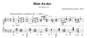 Brahms - Walc As-dur Op. 39, No. 15