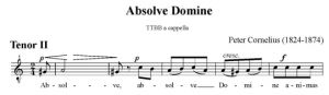 4. Absolve Domine - TTBB - tenor II