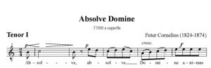 3. Absolve Domine - TTBB - tenor I