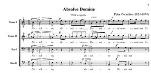 2. Absolve Domine - TTBB - partytura
