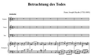 2. Betrachtung des Todes - STB i fortepian - partytura