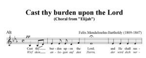 4. Cast thy burden upon the Lord - SATB - alt