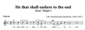 3. He that shall endure to the end - SATB - sopran