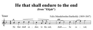 5. He that shall endure to the end - SATB - tenor