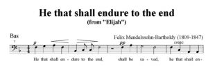 6. He that shall endure to the end - SATB - bas