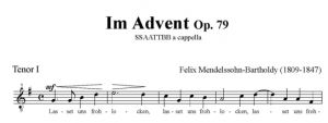 Im Advent Op. 79 - SSAATTBB - tenor I